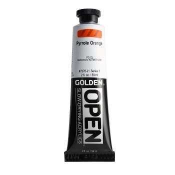 Golden OPEN Acrylics, 2 oz, Pyrrole Orange