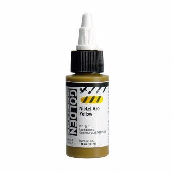 Golden High Flow Acrylics, 1 oz, Nickel Azo Yellow