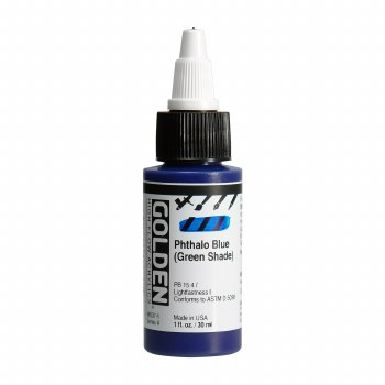 Golden High Flow Acrylics, 1 oz, Phthalo Blue (Green Shade)