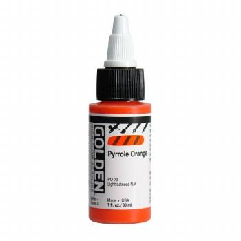 Golden High Flow Acrylics, 1 oz, Pyrrole Orange
