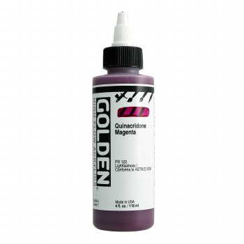 Golden High Flow Acrylics, 4 oz, Quinacridone Magenta