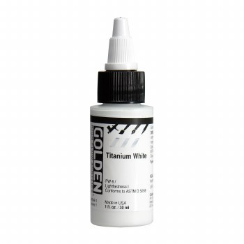 Golden High Flow Acrylics, 1 oz, Titanium White