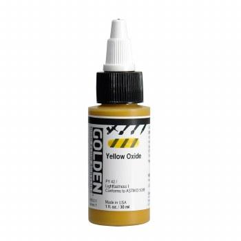 Golden High Flow Acrylics, 1 oz, Yellow Oxide