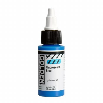 Golden High Flow Acrylics, 1 oz, Fluorescent Blue