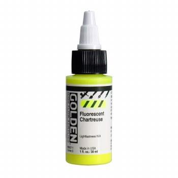 Golden High Flow Acrylics, 1 oz, Fluorescent Chartreuse