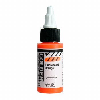 Golden High Flow Acrylics, 1 oz, Fluorescent Orange