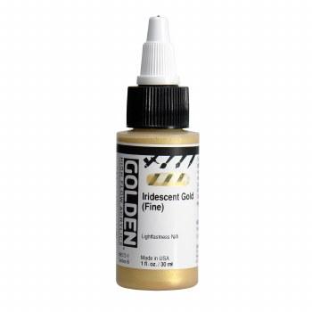 Golden High Flow Acrylics, 1 oz, Iridescent Gold (Fine)