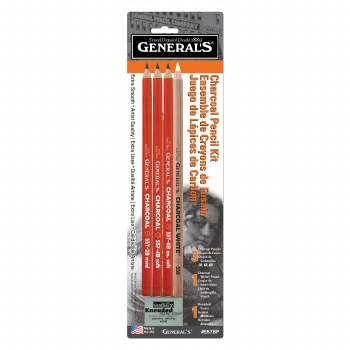 Charcoal Pencil Kit, 5 Pieces