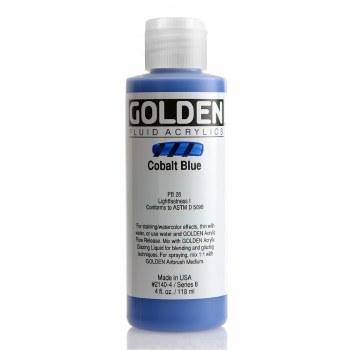 Golden Fluid Acrylics, 4 oz, Cobalt Blue