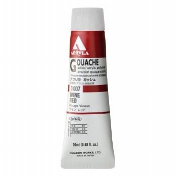 Acryla Gouache, 20ml Tubes, Wine Red