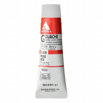 Acryla Gouache, 20ml Tubes, Pure Red