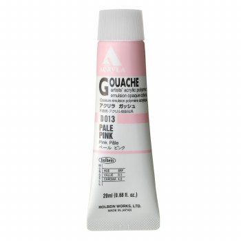Acryla Gouache, 20ml Tubes, Pale Pink