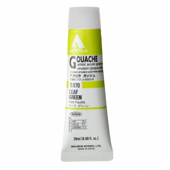 Acryla Gouache, 20ml Tubes, Leaf Green