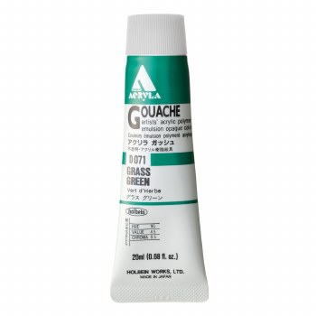 Acryla Gouache, 20ml Tubes, Grass Green