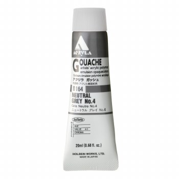 Acryla Gouache, 20ml, Neutral Gray #4