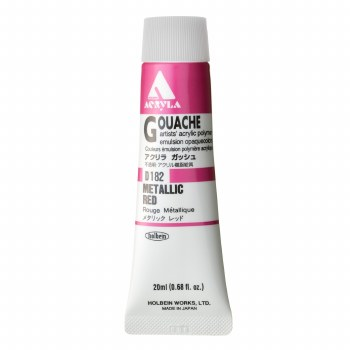 Acryla Gouache, 20ml Tubes, Metallic Red