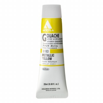 Acryla Gouache, 20ml Tubes, Metallic Yellow