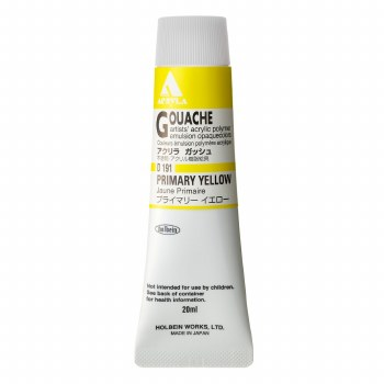 Acryla Gouache, 20ml Tubes, Primary Yellow