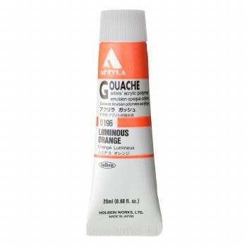 Acryla Gouache, 20ml Tubes, Luminous Orange