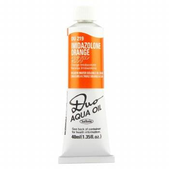 Holbein DUO Aqua Oil Color, 40ml, Imidazolone Orange