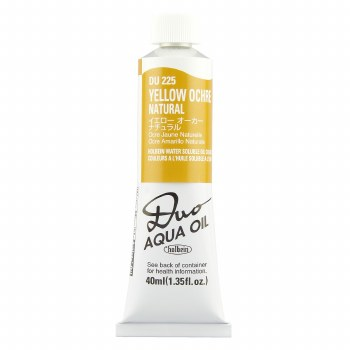 Holbein DUO Aqua Oil Color, 40ml, Yellow Ochre Natural