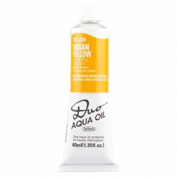 Holbein DUO Aqua Oil Color, 40ml, Indian Yellow