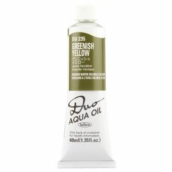 Holbein DUO Aqua Oil Color, 40ml, Greenish Yellow