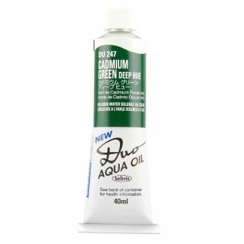 Holbein DUO Aqua Oil Color, 40ml, Cadmium Green Deep Hue
