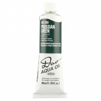 Holbein DUO Aqua Oil Color, 40ml, Prussian Green