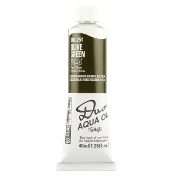 Holbein DUO Aqua Oil Color, 40ml, Olive Green