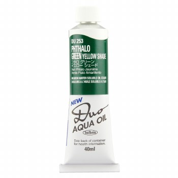 Holbein DUO Aqua Oil Color, 40ml, Pthalo Green Yellow Shade