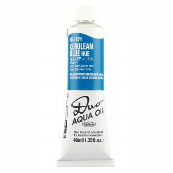 Holbein DUO Aqua Oil Color, 40ml, Cerulean Blue Hue