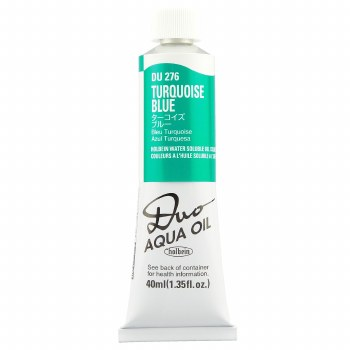 Holbein DUO Aqua Oil Color, 40ml, Turquoise Blue