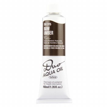 Holbein DUO Aqua Oil Color, 40ml, Raw Umber