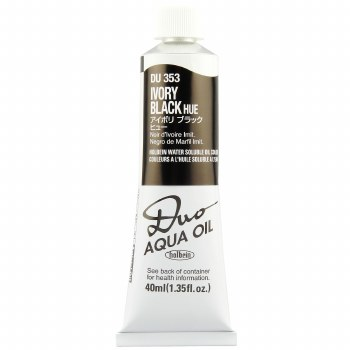 Holbein DUO Aqua Oil Color, 40ml, Ivory Black