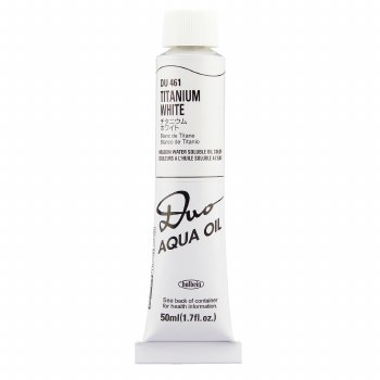 Holbein DUO Aqua Oil Color, 50ml, Titanium White