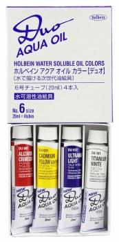 DUO Aqua Oil 4-Color 20ml Set, 20 ml Tubes