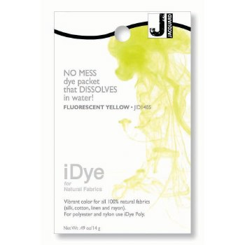 iDye Fabric Dye, 100% Natural Fabric iDye, Fluorescent Yellow