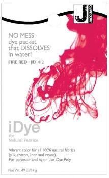 iDye Fabric Dye, 100% Natural Fabric iDye, Fire Red