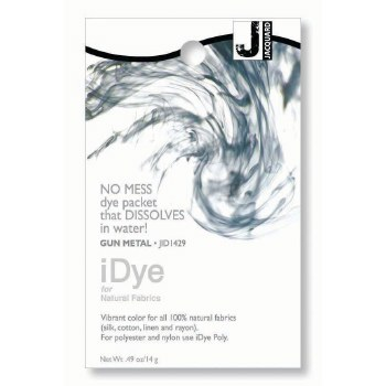 iDye Fabric Dye, 100% Natural Fabric iDye, Gun Metal