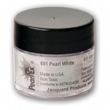 Pearl Ex Mica Pigments, 3g Jars, Pearl White