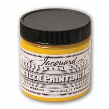Professional Screen Printing Ink, 4 oz. Jars, Yellow