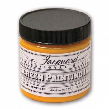 Professional Screen Printing Ink, 4 oz. Jars, Golden Yellow