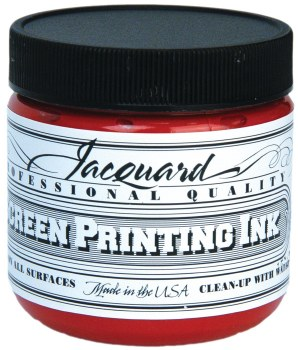 Professional Screen Printing Ink, 4 oz. Jars, Red
