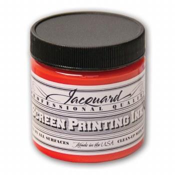 Professional Screen Printing Ink, 4 oz. Jars, Scarlet