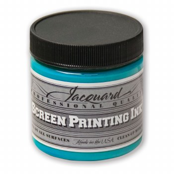 Professional Screen Printing Ink, 4 oz. Jars, Turquoise
