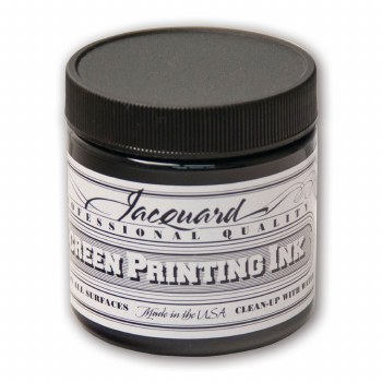 Professional Screen Printing Ink, 4 oz. Jars, Black