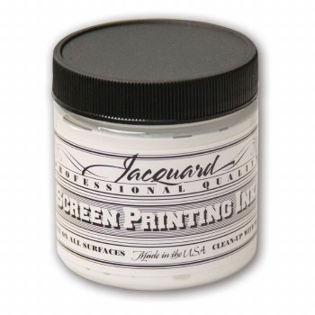Professional Screen Printing Ink, 4 oz. Jars, White