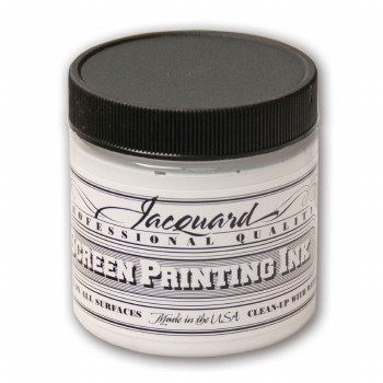 Professional Screen Printing Ink, 4 oz. Jars, Super Opaque White