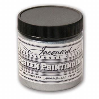 Professional Screen Printing Ink, 4 oz. Jars, Silver